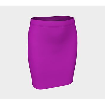 Solid Fitted Skirt - Purple