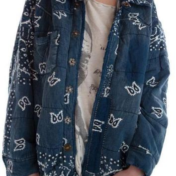 Magnolia Pearl Jacket 300 Cotton and Denim Asa Silas Bandana Puff Jacket~ Boro