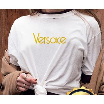 Versace/Balenciaga/Fendi/Givenchy/YSL  Women Men Hot Tunic T-shirt