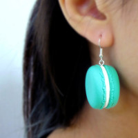 OOO - upcycled retro food toy earring / macaroon earrings