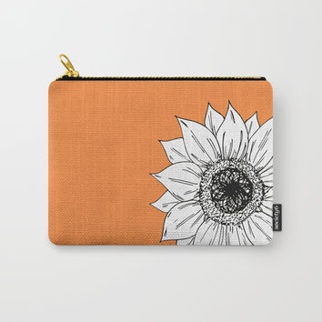 Orange/Sunflower Carry-All Pouch by JustV
