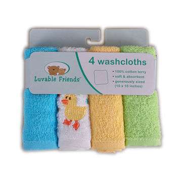 The 4-pack Baby Bath Towel Super-soft Washcloths Cotton Handkerchief Baby Towel Infant Accessories Free Shipping