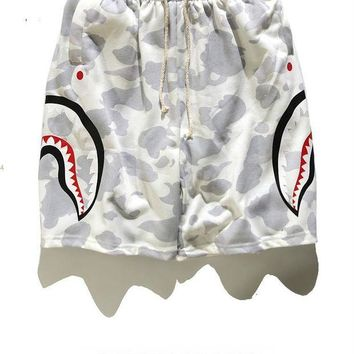 DCK4S2 Shark Beach Sports Summer Camouflage Pants [11501025804]