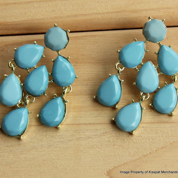 Blue Statement Earrings Kate Spade Earring Stud,Wedding Bridesmaids Gifts,Free Gift Box Packaging Available