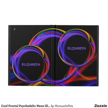 Cool Fractal Psychedelic Neon Glow Abstract Ball Powis iPad Air 2 Case