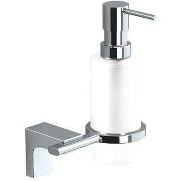 Sonia ELETECH Wall Mounted Glass Pump Soap Lotion Dispenser for Bath, Brass