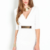 WRAP GOLD PLATE DRESS
