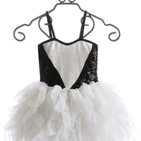 Ooh La La Couture White and Black Sweetheart Dress