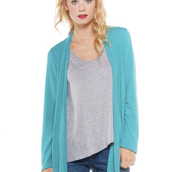 Easy Breezy Cardigan in Turquoise