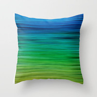 SEA BLUES Throw Pillow by catspaws | Society6