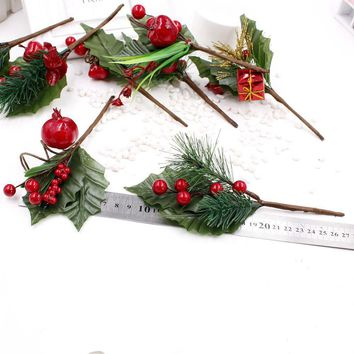 Artificial Flower Stamens Pearl Branches Mixed Berry Wedding Decoration Christmas Party Decorations