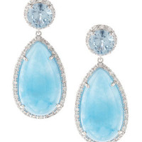 Jade & Cubic Zirconia Earrings
