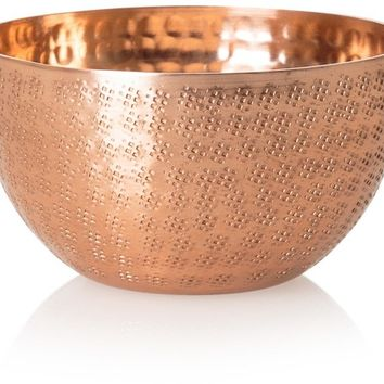 Small Copper Hammered Metal Bowl - All - Oliver Bonas