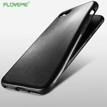 FLOVEME Retro Crazy Horse Pattern Leather Case For iPhone 7 Phone Cases For iPhone 7 6s 6 Plus Samsung Galaxy S8 Back Case Cover