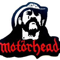 MOTORHEAD Lemmy RIP Iron On Sew On Embroidered Patch