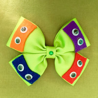 Ninja Turtles Green Character Inspired Hair Bow
