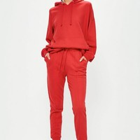 Missguided - Red Jersey Joggers