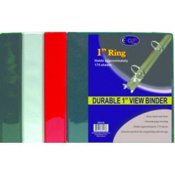 Binder - View Pocket - 1 Inch - 3 Ring