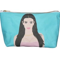 Kim & Khloe Kardashian Pop Zipper Pouch and Makeup Bag – Illustrated and Handmade in the USA