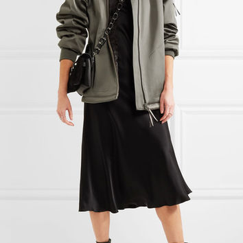 T by Alexander Wang - Oversized satin bomber jacket