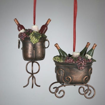 12 Christmas Ornaments - Copper Wine-filled Ice Bucket