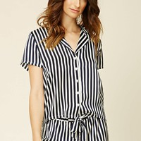 Stripe Shirt PJ Set