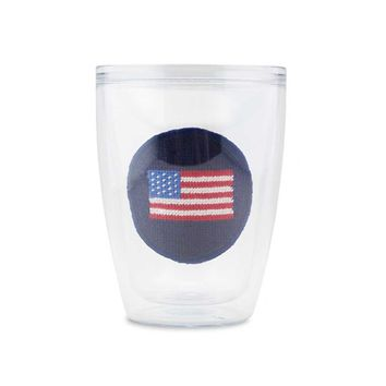 American Flag Needlepoint Tumbler by Smathers & Branson