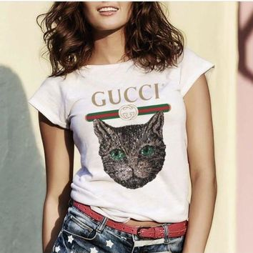 """Gucci""Hot letters print T-shirt"