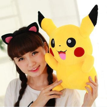 1pc 22cm Pikachu Plush Toys High Quality Very Cute Pokemon Plush Toys For Children's Gift  Cartoon Pokemon Go Pikachu Plush Doll