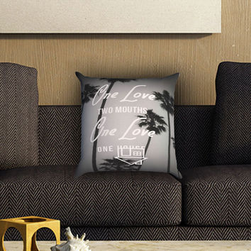 The Neighbourhood Lyrics Pillow Cover , Custom Zippered Pillow Case One Side Two SIde