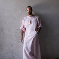 Men's loose fitting pure linen beach / loungewear. by YUMEworld