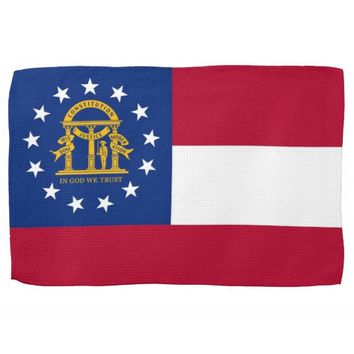 Kitchen towel with Flag of Georgia, U.S.A.