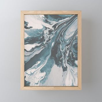 Teal (soul mate) Framed Mini Art Print by duckyb