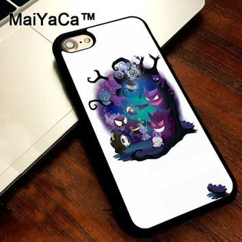 MaiYaCa s Dark Gengar Ghost Haunter Soft TPU Back Cover Case For iPhone 5s SE Back Cover For iPhone 5 Cases Coque FundasKawaii Pokemon go  AT_89_9