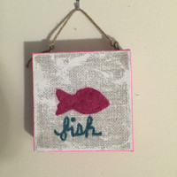 Needle Felted Fish Pisces
