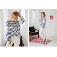 Buy DEEPNY Striped Long-Sleeved T-Shirt   YesStyle