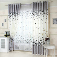 Curtain For Living Room Blackout Curtain  Floral Kitchen Curtains
