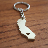 Golden California Lovin' - Metal Keychain