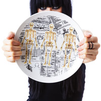 Sourpuss Clothing Skeleton Plate White One
