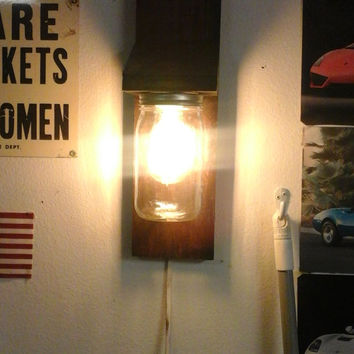Beautiful  mason jar wall sconces