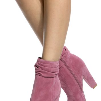 Mauve Faux Suede Chunky Open Toe Booties @ Cicihot. Booties spell style, so if you want to show what you're made of, pick up a pair. Have fun experimenting with all we have to offer!