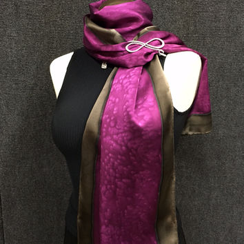 Magenta Madness - Hand Painted Silk Scarf