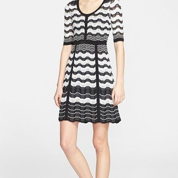 Women's M Missoni Greek Key Stripe Knit Dress,