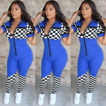 Race Star Jumpsuit Royal Blue