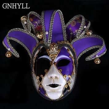 GNHYLL Venetian Masquerade Mask Phantom of the Opera Halloween Clown Mask Party Event Show Ball Supplies Decoration