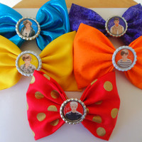 One Direction / One Direction bow / Hair Bow / 1D hair bow / Zayn malik / harry styles / niall horan / Fabric hair bow / louis tomlinson