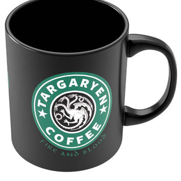 Targaryen Coffee | Fire & Blood | Starbucks Parody Black Coffee Mug