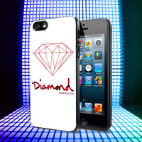 Diamond Supply Co Red iPhone 4, 4S, 5, 5C, 5S Samsung Galaxy S2, S3, S4 Case