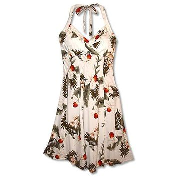 moon hawaiian napali halter dress