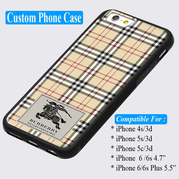 Burberry London Pattern Custom iPhone cases 4/4s 5/5s 6/ 6s